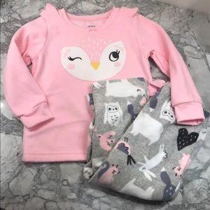NWOT carters fleece pajama set